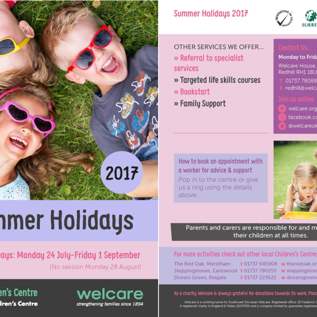 Welcare Summer Holidays 2017 Programme p1 & p4