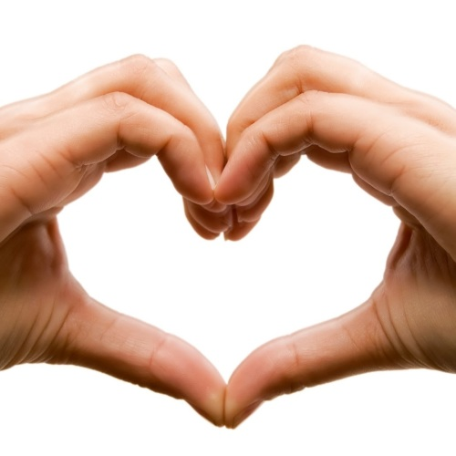 Photo of two hands making a heart to represent partnership with Royal Borough of Greenwich