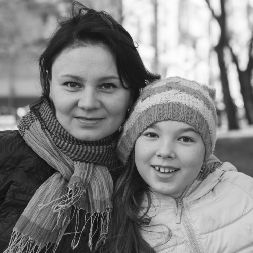 Mom and Daughter Happy