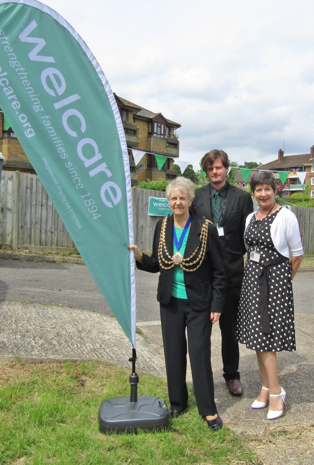 Mayor, Julie, Centre Manager, & Paul, Volunteer Manager