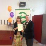 Br Volunteer Awards Fiona & (June 2016)