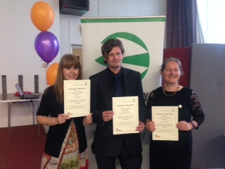 Volunteers with awards