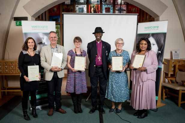 Bishop of Woolwich with volunteer award winners