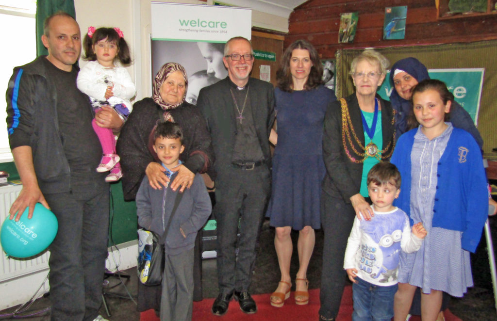 Service users with The Bishop and The Mayor