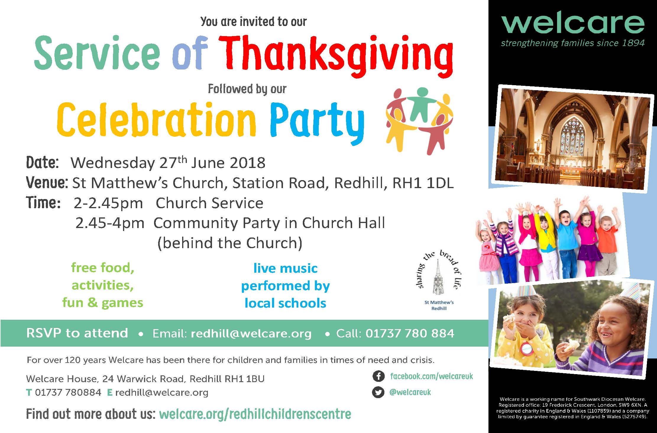East Surrey Service of Thanksgiving 2018 Flyer